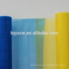 Maille de fibre de verre utilisée dans l'isolation thermique de mur