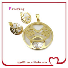 Silver animal stainless steel Jewelry Set