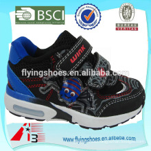 high heel kid sports shoe for boys with spider cartoon