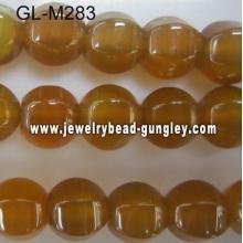 Lamp shape agate bead-yellow