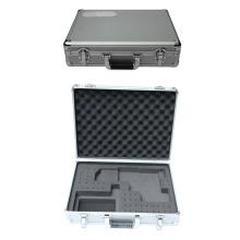 Caja de herramientas de aluminio con placa de identificación y espuma personalizada
