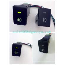 Света тумана Тойота кнопочный переключатель 12 В 3 Ампера OEM замены включеный-выключеный переключатель Камри с двойной зеленый светодиод