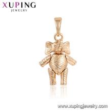 33700 Xuping lovely colgante animal 18K elefante colgante en forma de