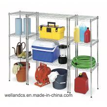 DIY cromo armazenamento de metal strorage fio shelving (LD12045150A4C)