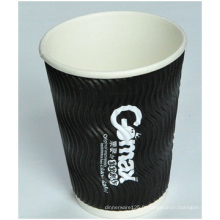 Tasses avançées de papier ondulé, tasses chaudes jetables de papier d'isolation