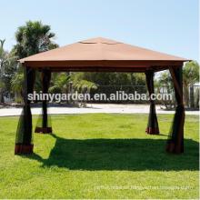tienda de lujo al aire libre del jardín del gazebo del marco de aluminio con mosquitera