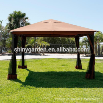 deluxe aluminum frame outdoor gazebo garden tent with mosquito net