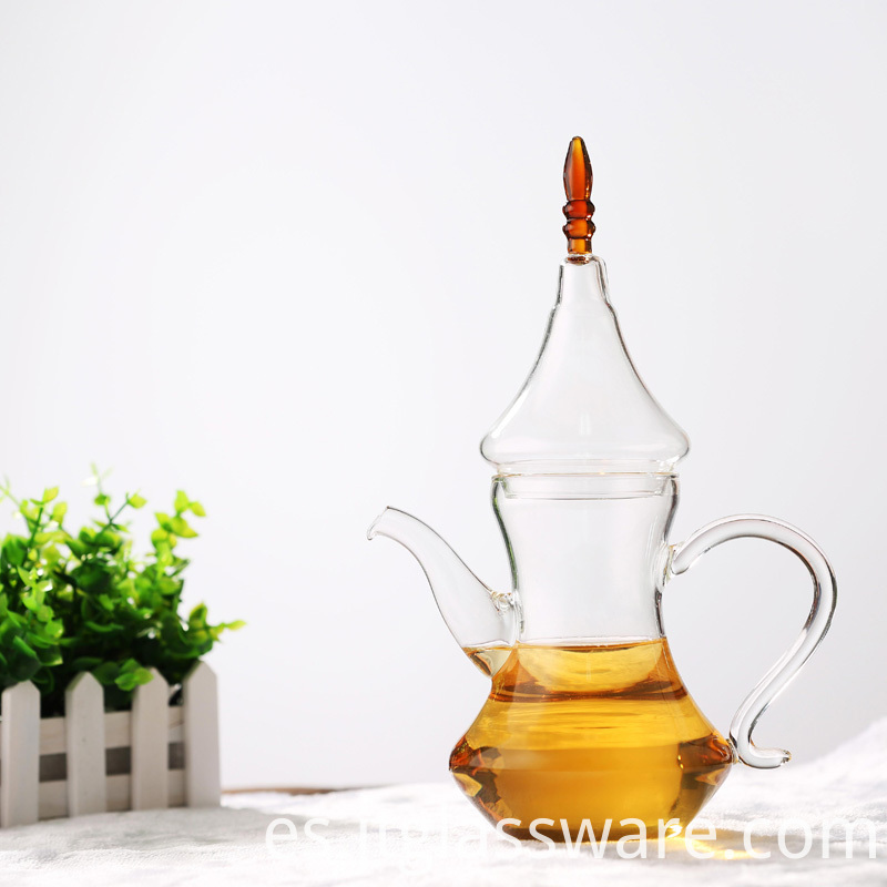 glass teapot to boil water