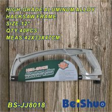 12′′ High-Grade Aluminum Alloy Hacksaw Frame with Silver Appearance