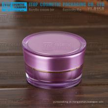 YJ-R15B 15g alta qualidade duplas camadas dobro frasco acrílico cosmético de camadas 0,5 oz