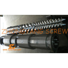 Tambor cônico bimetálico gêmeo do parafuso da tubulação do PVC da fabricação