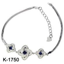 925 pulseras de plata de la joyería del zirconia (K-1750. JPG)