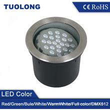 24W Buried Ground LED Garden Light RGB LED Inground Light with Beam Angle Adjustable