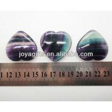 Forma natural do coração da fluorita do arco-íris 35MM