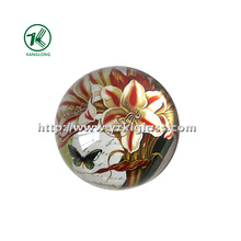 Crystal Paper Weight with Decal Paper SGS (dia8.5*3.5)