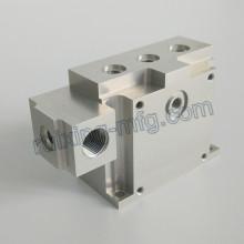 Bloco de usinagem de alumínio de alta precisão para instrumentos e medidores