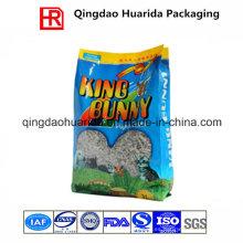Bolsa de embalaje de alimentación animal con fuelle lateral / bolsa de arena para gatos