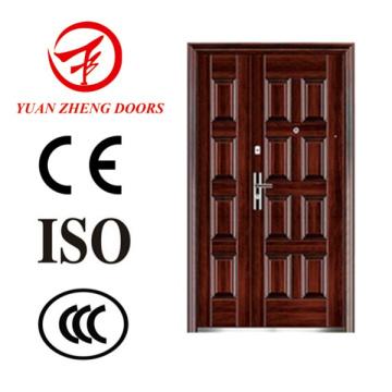 Porta de segurança de madeira de metal principal