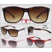 2016 Gafas de sol vendedoras calientes de la protección UV400 con la decoración del metal (WSP601541)