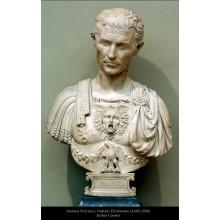 Busto de la cabeza de la estatua del mármol de la escultura de piedra para la decoración casera (SY-S189)