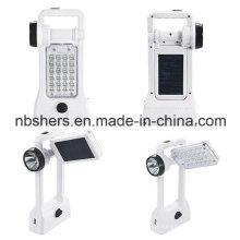 Lumière LED solaire avec lanterne de camping, lampe de bureau, prise USB