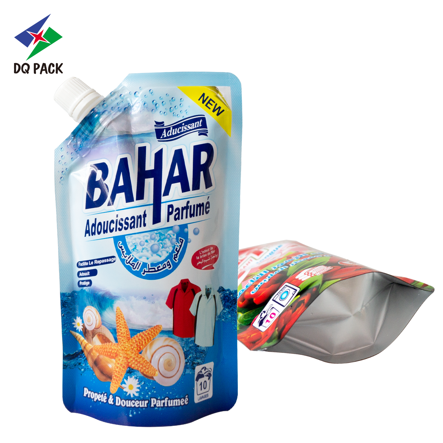 detergent packaging spout pouch