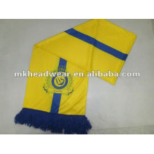 Printing football scarf with famous football club logo on each sides