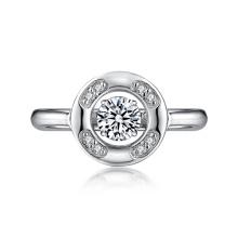 925 Silver Dancing Diamond Rings with Micro Setting CZ