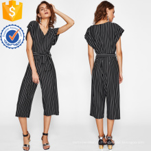 Черный и белый полоски галстук талии комбинезон ОЕМ/ODM Производство Оптовая продажа женской одежды (TA7009J)
