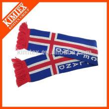 Обслуживание OEM акриловый вязать зимний футбольный шарф