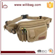 High Quality Fashion Outdoor Multi-Pocket Canvas Waist Bag