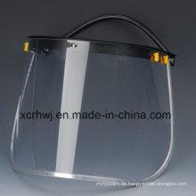 PC Visor Face Shield für Sicherheitshelm, PVC Face Shield Visor, Transparente Face Shield Visier, Green Face Shield, PVC / PC Screen Faceshield Visor, Schutzmaske