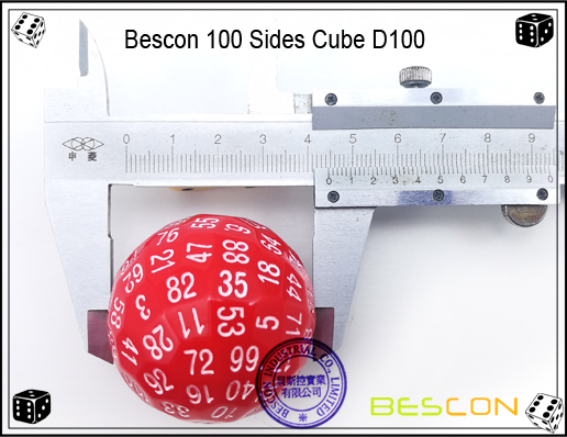 Bescon 100 Sides Dice D100-4
