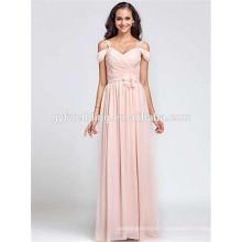 2015 Elegant Design for Ladies Sweetheart Neckline short sleeve Empire Waist Floor Length Evening Dress for Fat Women C46-1