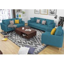 2016 mobiliário moderno sala de estar 1 + 2 + 3 sofá de tecido
