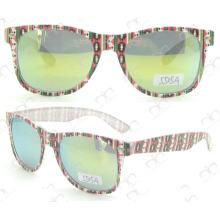 Gafas de sol coloridas de la promoción de los vidrios de Sun de la manera (5505A)