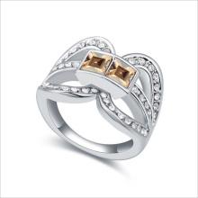 VAGULA Square Zircon Silver Ring pour femmes