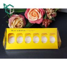Hot sale custom logo black color macaron box