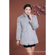 Dame Fur Overcoat Winter Pelz Mantel Frauen Outwear Mantel