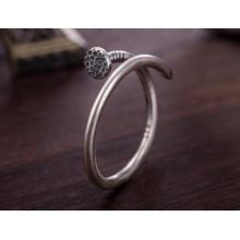 Anillo de forma de uñas de plata 925 Anillo medio abierto de unisex