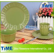 16-Stück Eco Ware Green Steinzeug Abendessen Ware