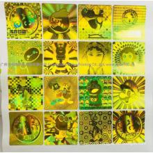 Gold Laser Paper Hologram Printing Adhesive Label / Sticker