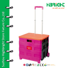 collapsible wheeled foldable shopping trolley cart