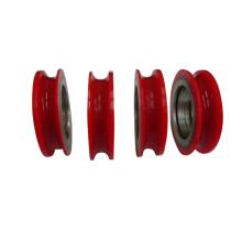 Plastic v pully wheel sliding door roller bearings shower door bearing wheels