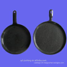 OEM customized cast iron enamel fry pan