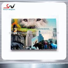 Eco-friendly advertising tourist souvenir fridge magnet