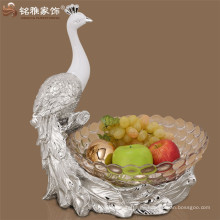 Mingya Großhandel Hause Dekor Harz Pfau Form Obst Platte Obst Tablett zum Verkauf