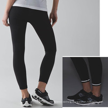 Wholesale Laddies Fitness Sports Pants Compression Tight with Reflective Details and Draw String