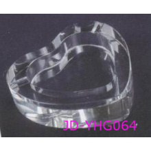 New Design Heart Shaped Clear Crystal Ashtray, Glass Smoking Set (JD-YG-007)