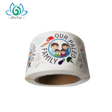 Custom Printing Round Shaped Vinyl Sticker Roll Wholesale